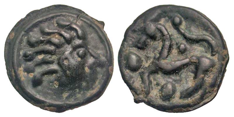 Northwest Gaul, Senones. Ca. 150-100 B.C. Potin Unit.