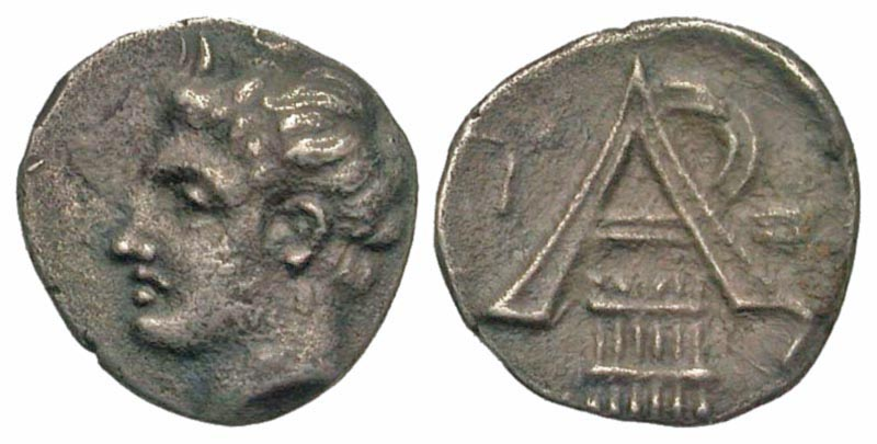 Arkadia, Arkadian League. Megalopolis. ca. 330-275 B.C. AR obol. Ex Malter Galleries, Ex BCD (not in BCD sale).