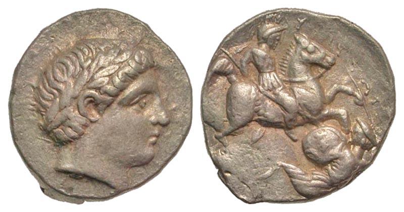 Paeonian Kingdom. Patraos. 335-315 B.C. AR tetradrachm. Damastion mint?.