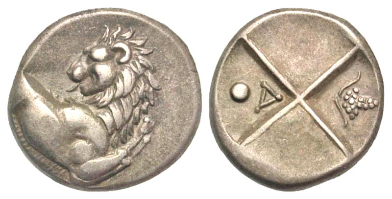 Thrace, Cherronesos. Ca. 400-350 B.C. AR hemidrachm. Rare type.
