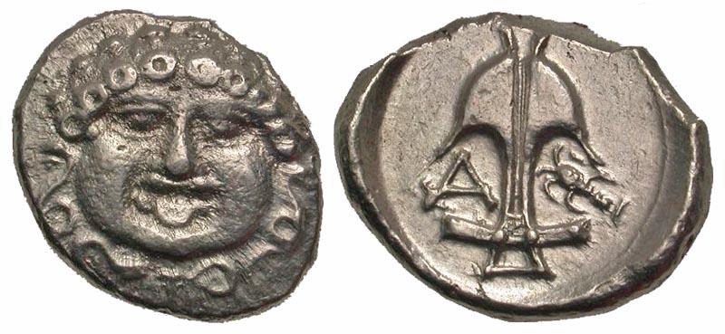 Thrace, Apollonia Pontika. Late 5th-4th centuries B.C. AR drachm.