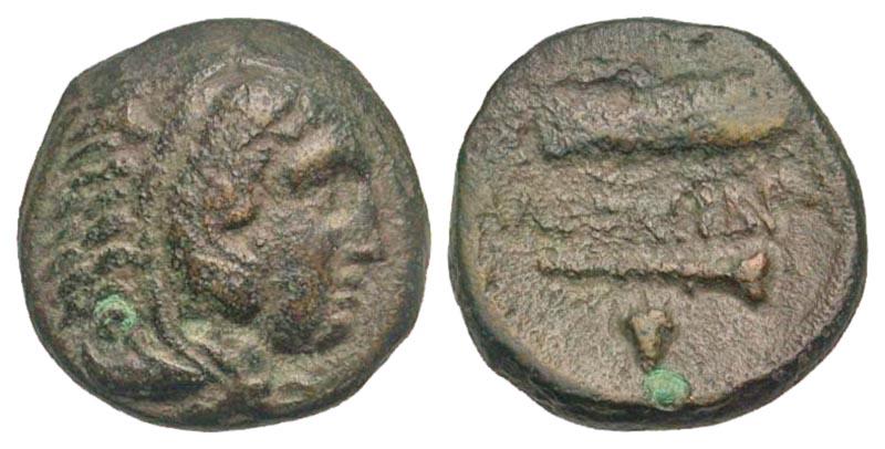 Macedonian Kingdom. Alexander III 'the Great'. 336-323 B.C. AE 18. Macedonian mint, Struck 336-323 B.C.