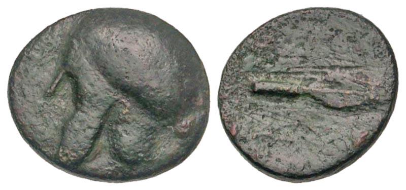 Macedonian Kingdom. Kassander. 316-297 B.C. AE unit. Uncertain mint. Rare.