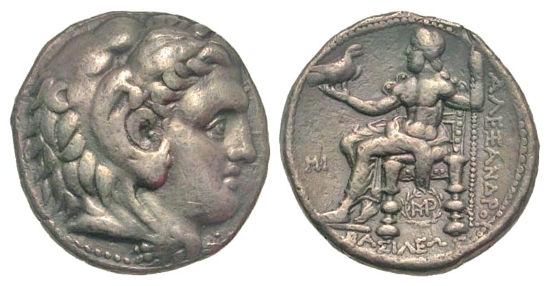 Macedonian Kingdom. Alexander III 'the Great'. 336-323 B.C. AR tetradrachm. Babylon mint, 311-305 B.C. Struck by Seleukos I Nikator.