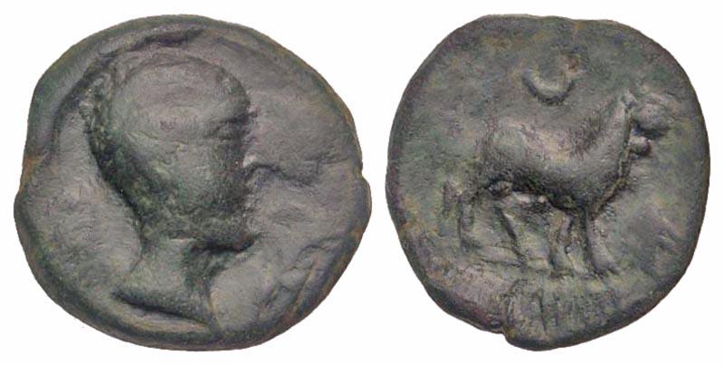 Iberia, Castulo. AE half unit.
