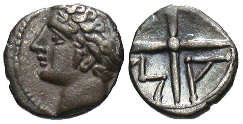 Gaul, Massalia. ca. 350-215 B.C. AR obol.