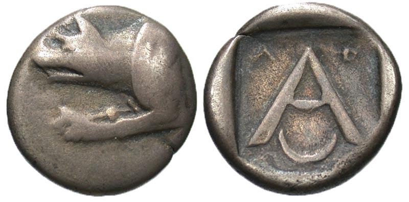 Argolis, Argos. ca. 330-270 B.C. AR triobol.