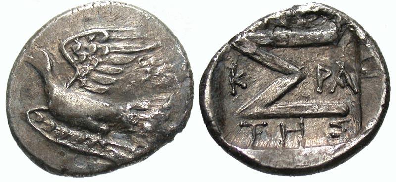 Sikyonia, Sikyon. Ca. 100-60 B.C. AR triobol. Sosikrates, magistrate.