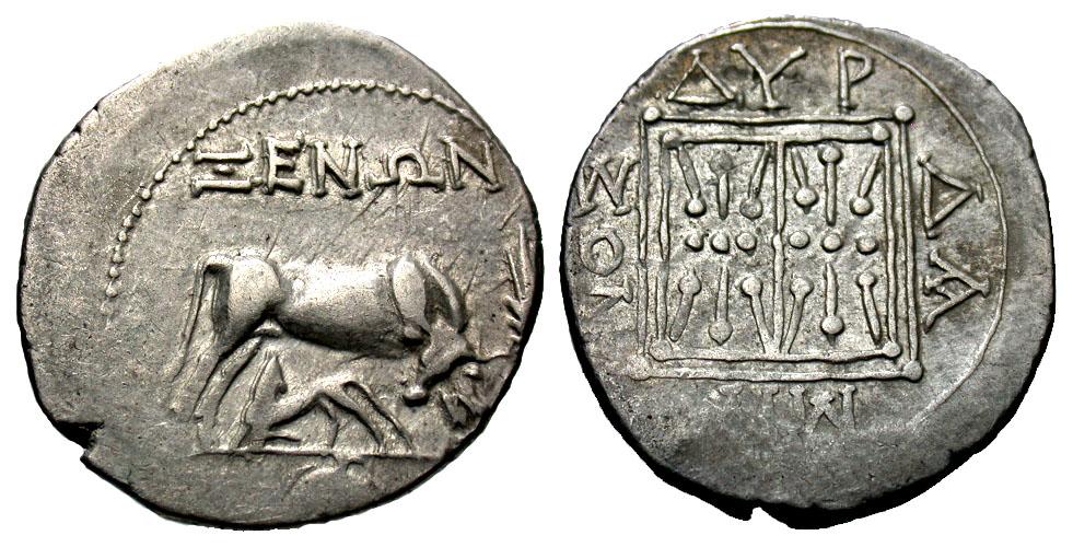 Illyria, Dyrrhachion. Ca. 250-200 B.C. AR drachm. Xenon, magistrate.