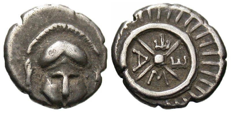 Thrace, Mesembria. Ca. 4th century B.C. AR diobol.