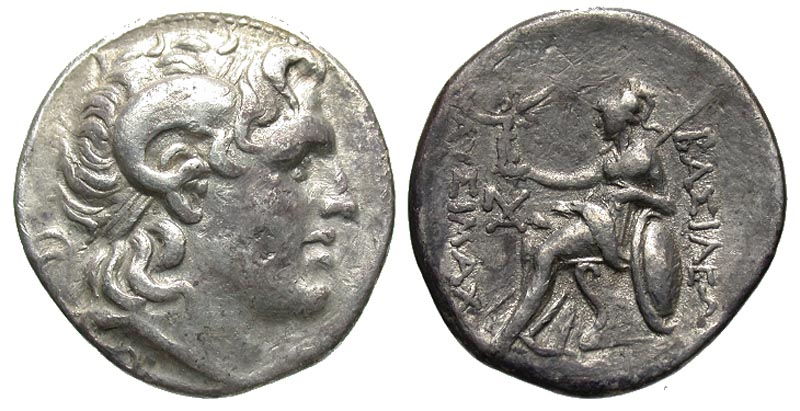 Thracian Kingdom. Lysimachos. As King, 306-281 B.C. AR tetradrachm. Lampsakos mint, 297/6-282/1 B.C.