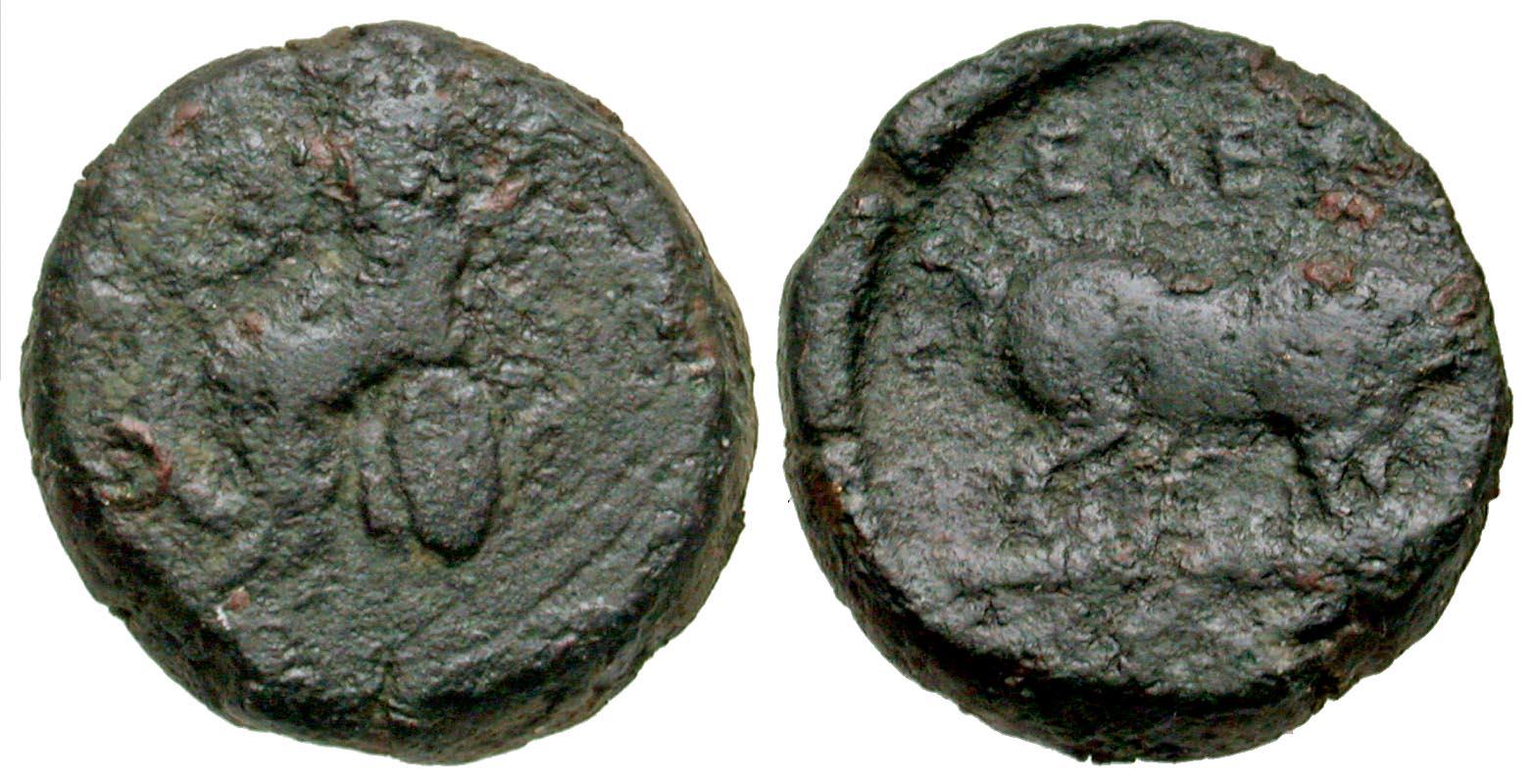Attica, Eleusis. civic issue. 339-322 B.C. AE 16.