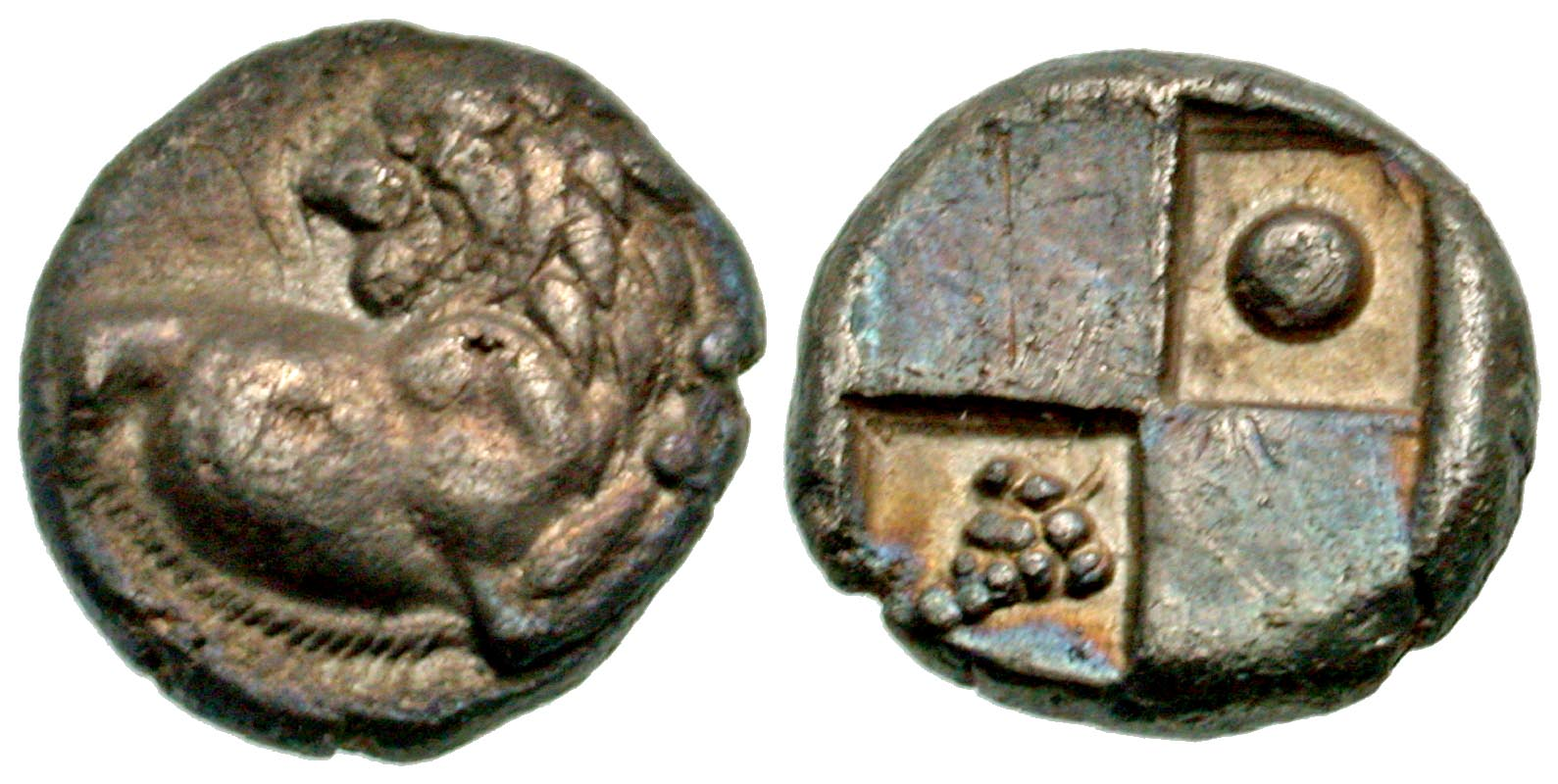 Thrace, Thracian Chersonese. Cherronesos. civic issue. 400-350 B.C. AR  hemidrachm. From the Tom Buggey Collection.