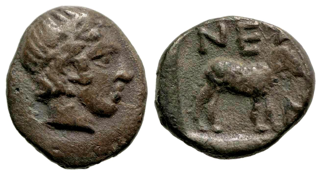 Troas, Neandria. 4th century B.C. AR obol.