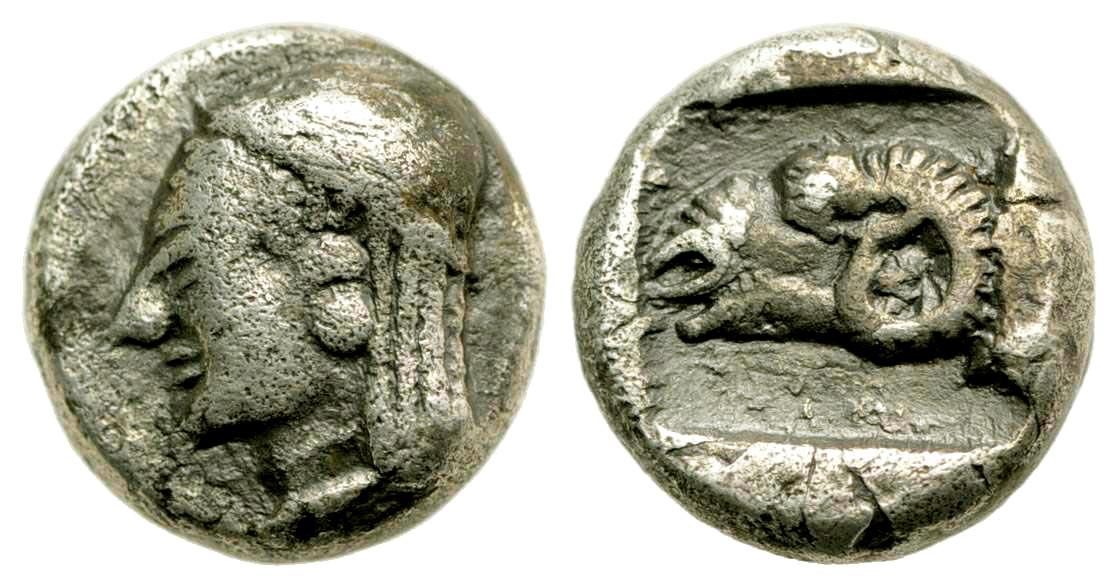 Troas, Kebren. Ca. 5th century B.C. AR diobol.