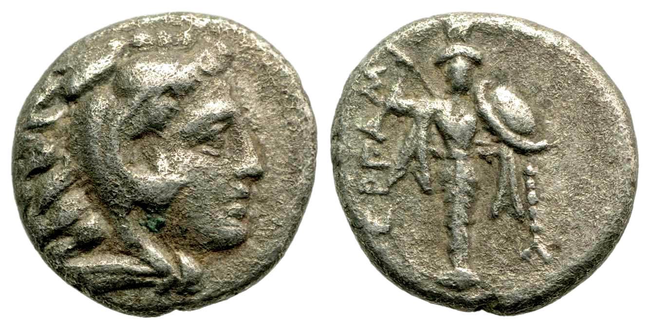Mysia, Pergamon. Ca. 310-282 B.C. AR diobol.