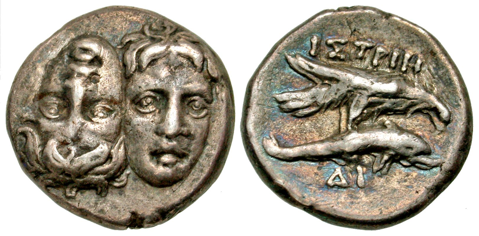 Moesia, Istros. civic issue. 400-350 B.C. AR stater. From the D. Thomas Collection.