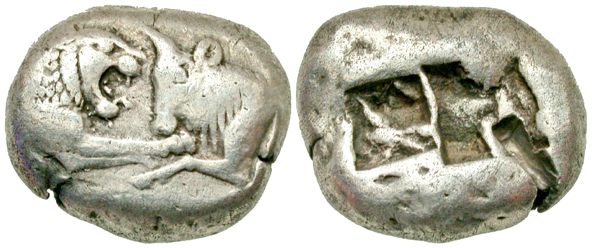 Lydian Kingdom. Kroisos. Circa 564/53-550/39 BC. AR stater. Sardes mint.