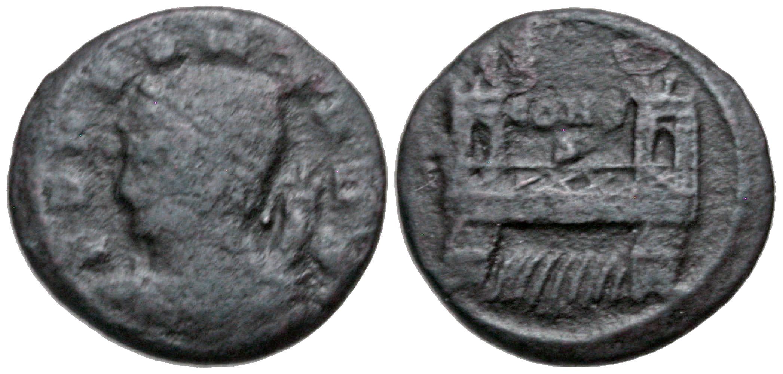 Constantine I. A.D. 307/10-337. AE 4. Constantinople mint, struck A.D. 330. Rare. Ex Imperial Coins.