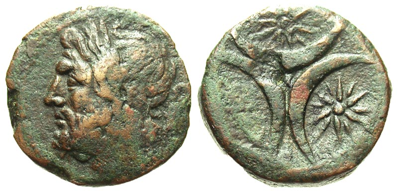 Apulia, Venusia. Ca. 210 B.C. Æ teruncius.
