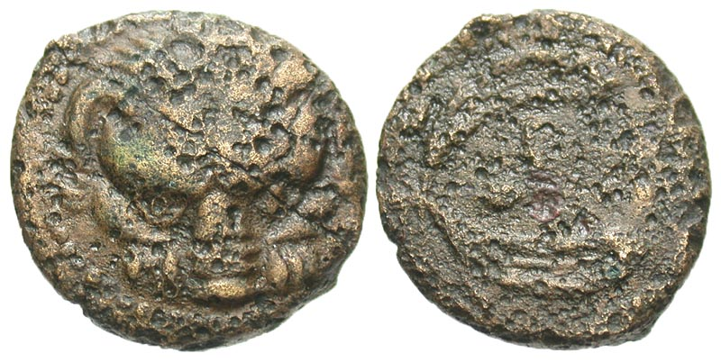 Bruttium, Rhegion. Ca. 425-410 B.C. Æ pentonkion.