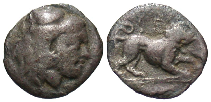 Lucania, Herakleia. 432-420 B.C. AR diobol.