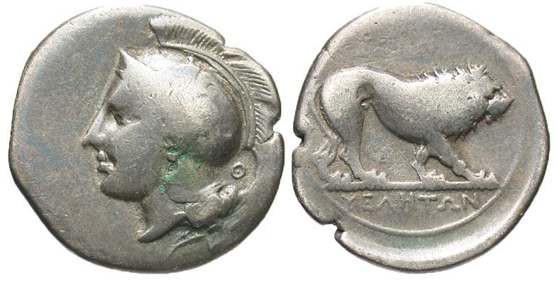 Lucania, Velia. ca. 340-34 B.C. AR nomos. Theta group.