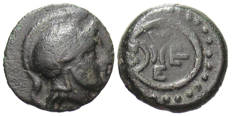 Thrace, Mesembria. Ca. 350 B.C. Æ 13. Rare.