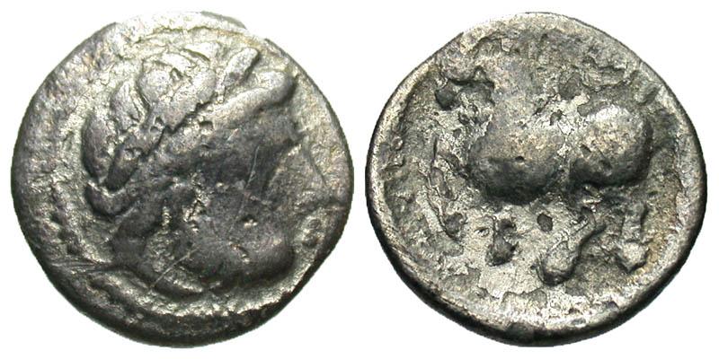 Eastern Europe. Imitating Philip II of Macedon. 2nd century B.C. AR drachm. Dachreiter type. Struck by the Skordoski in Syrmia. Phase A.