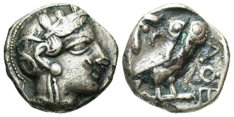 Attica, Athens. 449-404 B.C. AR tetradrachm.
