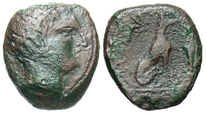 Islands off Elis, Kephallenia. Same. Before 191 B.C. Æ 16. Very Rare.