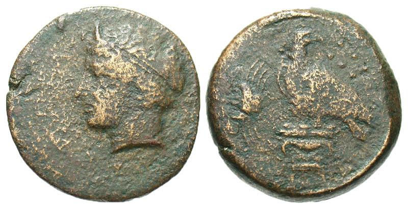 Sicily, Akragas. ca. 400-380 B.C. Æ hemilitron. Scarce.