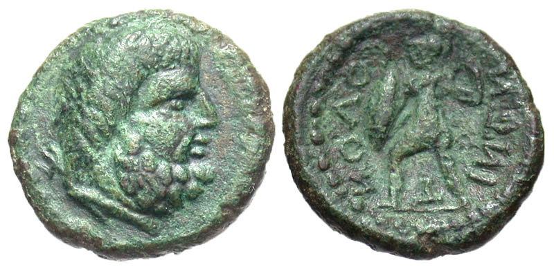 Sicily, Solus. after 241 B.C. Æ hemilitron. Rare.