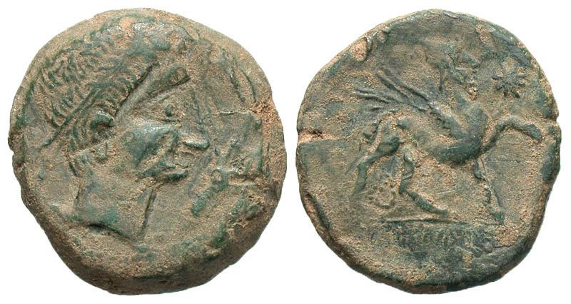 Iberia, Castulo. Late 2nd century B.C. Æ as.