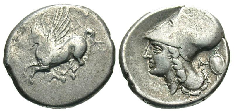 Akarnania, Argos Amphilochikon. 330-280 B.C. AR stater. Rare.