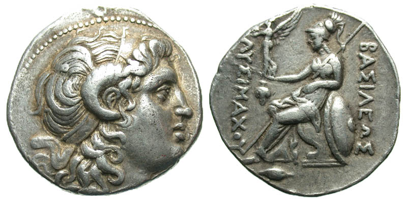 Thracian Kingdom. Lysimachos. As King, 306-281 B.C. AR tetradrachm. Uncertain Bithynian mint, Struck 297/6-282/1 B.C.