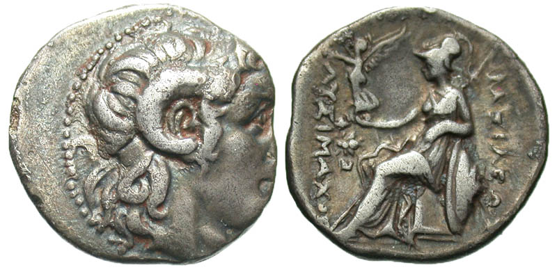 Thracian Kingdom. Lysimachos. As King, 306-281 B.C. AR drachm. Ephesos mint, Struck 295/4-289/8 B.C. Ex Goldberg sale 75, lot 2667.