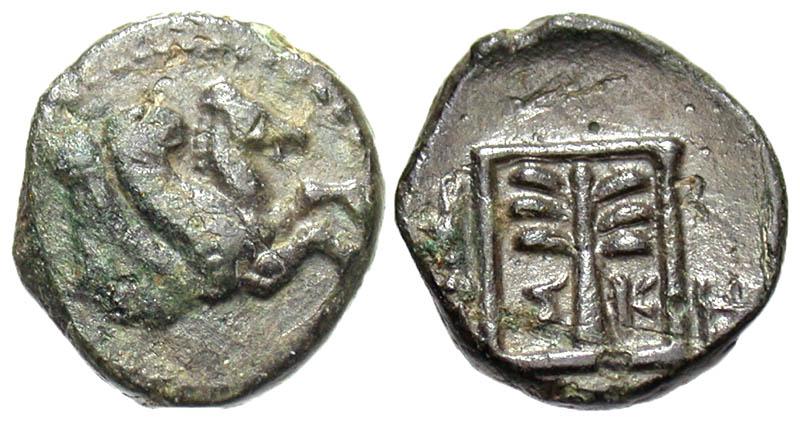 Troas, Skepsis. ca. 197-188 B.C. Æ 12. Rare variety.
