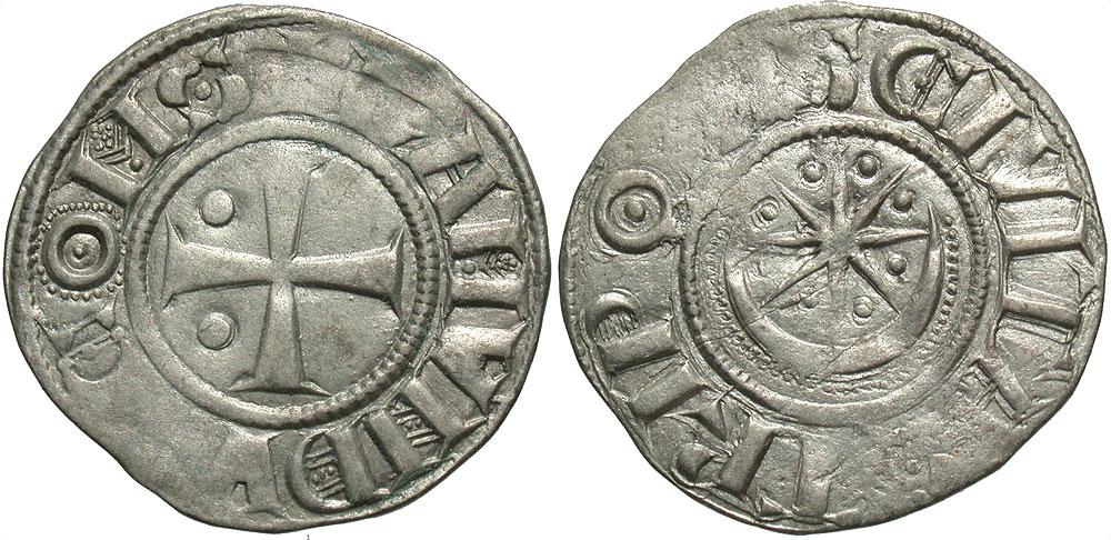 Crusader States, County of Tripoli. Raymond II-III. 1137-1187. BI denier. Struck late 1140s-1164.